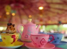 tiny hamster pigging out at disney world