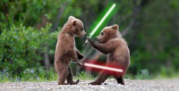When Animals Attack ? With Lightsabers
